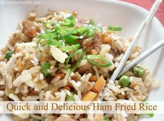 Ham fried rice...good way to use up the left over ham from Easter.
