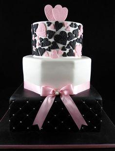 Another Striking Wedding Cake - Cake by Lisa-Jane Fudge