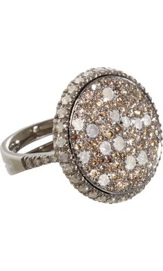 ALL ABOUT HONEYMOONS - Check us out on Facebook!  https://www.facebook.com/AAHsf  Roberto Marroni Brown & Ice Diamond Sand Ring