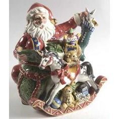 Fitz & Floyd Old Fashioned Christmas Teapot