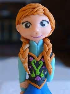 Frozen Inspired Fondant Cake Topper-Anna or Elsa