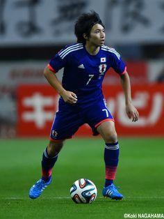Gaku Shibasaki - MF - #7 KIRIN CHALLENGE CUP Japan vs. Jamaica at DENKA BIG SWAN STADIUM 2014-10-10