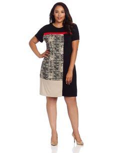 Calvin Klein Women's Plus-Size T-Shirt Dress With Blocking, Black/Light Latte Multi, 3X Calvin Klein,http://www.amazon.com/dp/B00BENWUIM/ref=cm_sw_r_pi_dp_7o-msb1D0DMQ20SX