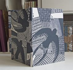 Swallows linocut Eco Journal, recycled by InkyPrints - Originals