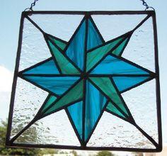 Mariners Compass Stained Glass Window Suncatcher Panel. $36.00, via Etsy.