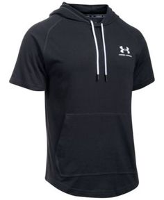 Under Armour Men's Performance Short-Sleeve Hoodie - Black XXL