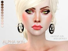 Sims 4 Updates: TSR - Skins / Skin details : PS Alpha Skin by Pralinesims, Custom Content Download!