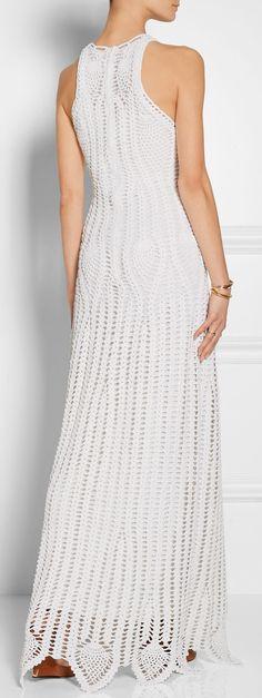 pineapple crochetd dress by Rosetta Getty