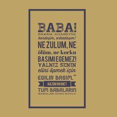 Tüm Babaların Babalar Günü Kutlu Olsun!  #Babalar #Günü #Şiir #Nazım #Hikmet #Ran