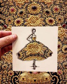 #TBT to Dubai and this embroidered Rug