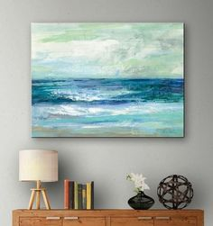 Blue Ocean Art Print on Canvas... http://www.beachblissdesigns.com/search/label/Art%20on%20Canvas