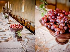 Fruit and fynbos centrepieces