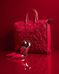 Tote & Pump by Valentino at Neiman Marcus.