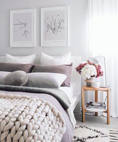 I couldn't be more happy spring has arrived but I am going to miss the winter colours. . A stunning room from @oh.eight.oh.nine featuring our hub side table - back in stock and available online now! http://ift.tt/1NPADcz