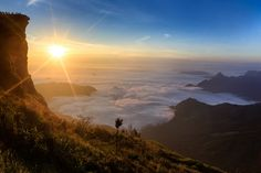 Sea mist with sunrise at Phu-chi-fa, Chiang Rai, Thailand;  photo by Patrick Foto :), via Flickr