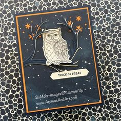Aromas and Art - Page 7 of 140 - Su Mohr, Independent Stampin' Up! Demonstrator, and Independent Young Living Distributor Up Halloween, Halloween Cards, Fall Cards, Holiday Cards, Punch Art Cards, Owl Card, Christmas Bird, Stamping Up Cards, Bird Cards