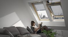 Cosy living-room with VELUX windows