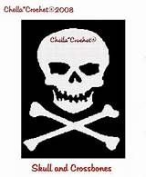 X311 Crochet PATTERN ONLY Pirates Afghan Pattern Skull and Cross Bones ...