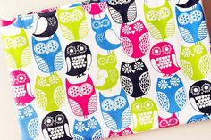 Colorful Owl Cotton Fabric Owls Fabric Cotton Kids Nursey Bag Fabric for Cloth Curtain Quiltting Uph Lace Fabric, Cotton Fabric, Fabric Owls, Thank You Flowers, Colorful Owl, Cloth Bags, Embroidered Flowers, Upholstery