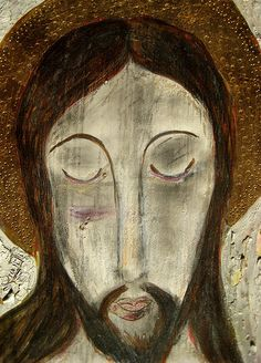 Jésucristo, retablo of Jesus Christ by Tesuque artist Juanito  Jimenez, photo © 2008 by ybonesy. All rights reserved.