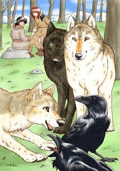Torak, Renn, Wolf, Donkervacht, Kiezel en Rip en Rek.