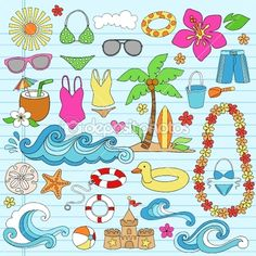 Summer Vacation Notebok Doodles