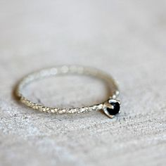 Black diamond ring - praxis jewelry
