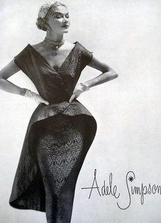 Adele Simpson, Vogue 1951 - Gorgeous!
