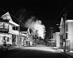 Ghost Town. Stanley, Virginia, Feb 1, 1957 (© Conway Link; courtesy of the O. Winston Link Museum) Lighting these historic shots was technically epic - banks of flash lights - a big commitment to a single release of the shutter. ~Via Ludwig Haskins