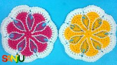 Simple and Easy crochet Thali posh, Table mat design. Hi Friends, Today once again I am sharing a new thalpos or table mate design with you. This video is very simple and easy steps to make thaliposh. Easy Crochet, Knit Crochet, Crochet Earrings, Kids Rugs, Knitting, Simple, Table, How To Make, Diy