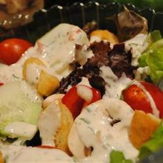 This ranch dressing features FRESH herbs and is oh-so-easy to make...not to mention tasty to eat :o)!