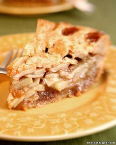 Ron Dube's recipe for brandy apple pie won first place in Stone Barns' 2006 pie contest.