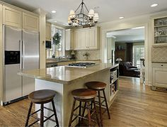 Floor color, cabinet color, tops, stainless appliances