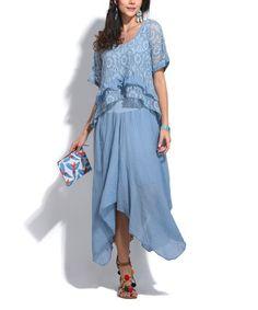 Loving this Blue Handkerchief Dress on #zulily! #zulilyfinds