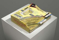 Maya Lin  Paper Landscape - 3, 2009  recycled phonebook  9 x 8 1/4 x 2 1/4 inches