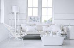 White | Pure | Living room | Modern | Sofa | Clean | Livingetc