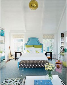 Little Green Notebook: Interesting Overhead Lighting in Bedrooms