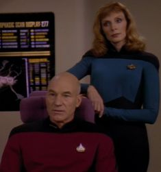 Captain Picard and Dr. Crusher