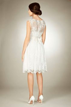 Lace dress from coast.  Bridesmaids could wear this with a sash of my colour scheme
