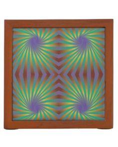Colorful seamless spiral pattern desk organizers $30.90 *** Colorful seamless spiral pattern graphic - desk organizer