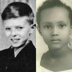 Very young David & Iman
