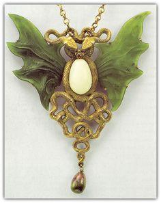 Wilhelm Lucas Von Cranach. Art Nouveau Necklace. Circa 1900.