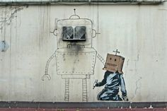 Banksy: This is a reasonably new piece, I think. Continuing the theme of graffiti within graffiti.