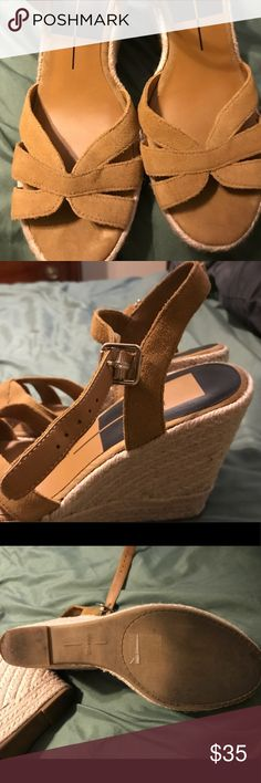 Dolce Vita wedge sandals Comfortable wedges perfect for summer! Only worn twice. Dolce Vita Shoes Wedges