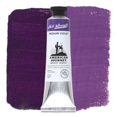 American Journey Artists' Acrylic, Medium Violet is a cool blue balanced with a warm red to create a variety of colors similar to an evening sky. Available in a 60 ml. tube. #ArtSupplies #AcrylicPainting #Acrylic