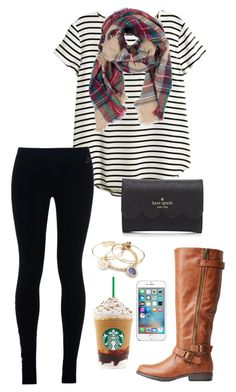 """Boys seem to like the girls who laugh at anything"" by toonceyb ❤ liked on Polyvore featuring H&M, NIKE, Charlotte Russe, Alex and Ani and Kate Spade"