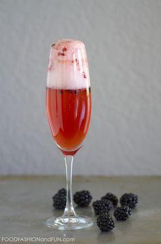 blackberry, fruit, drink, cocktail, bourbon, champagne, prosecco, foodfashionandfun, food blog, lifestyle blog