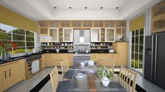 Kitchen - Modern - Kitchen - by Modern Kitchen Design, Modern Design, Mirror With Shelf, White Oak, Room Colors, Shelves, Table, Furniture, Home Decor