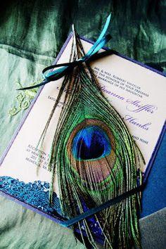 Planning a Peacock Themed Wedding - Wedding Invitations   Read more: http://simpleweddingstuff.blogspot.com/2015/08/planning-peacock-themed-wedding.html