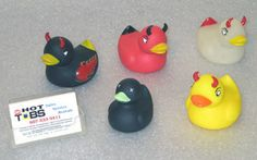 Get one of each of the 5 types: Red, Yellow, Hot-rod, Glow-in-dark and Dead duck.